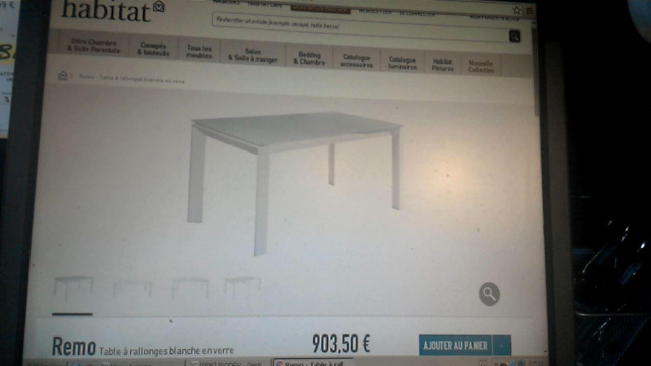 table habitat rio 1 allonge verr d 39 occasion. Black Bedroom Furniture Sets. Home Design Ideas