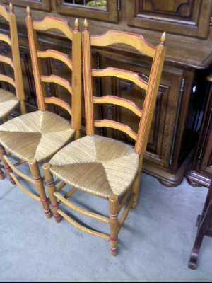Lot de 4 chaises rustiques d 39 occasion - Chaises rustiques d occasion ...