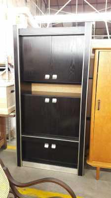 meuble etagere noire 1970 d 39 occasion. Black Bedroom Furniture Sets. Home Design Ideas