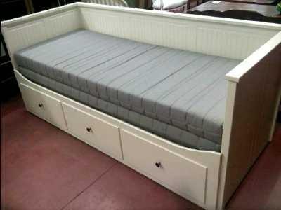 banquette lit 80x200 ou 160x200 3 tiroirs d 39 occasion. Black Bedroom Furniture Sets. Home Design Ideas