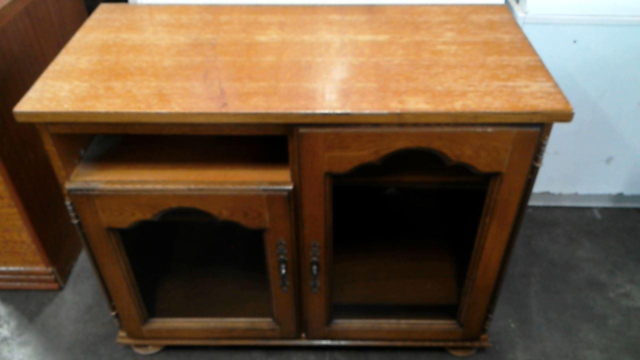 meuble hifi decor chene 2 portes d 39 occasion. Black Bedroom Furniture Sets. Home Design Ideas