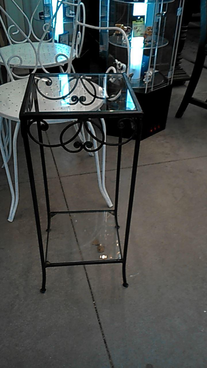 sellette fer forge pat verre d 39 occasion. Black Bedroom Furniture Sets. Home Design Ideas