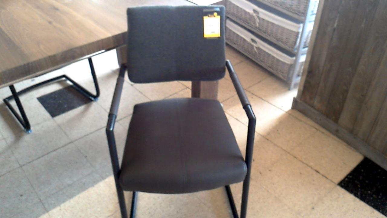 chaise de bureau tissu pu gris d 39 occasion. Black Bedroom Furniture Sets. Home Design Ideas