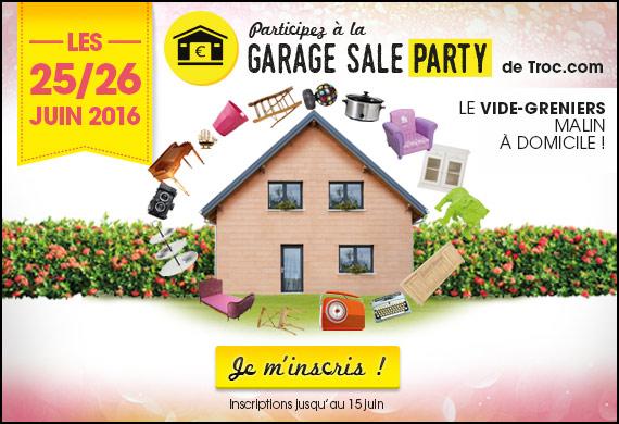Garage Sale Party Troc.com